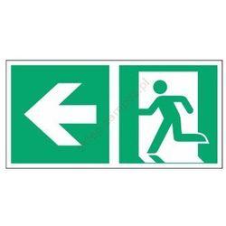 Znak Kierunek do wyjścia ewak. strz. w lewo E01-LL