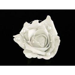 Róże białe na przyssawkach na samochód - 10 cm - 4 szt.