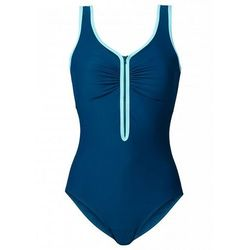 Kostium kąpielowy wyszczuplający bonprix niebieskozielony morski
