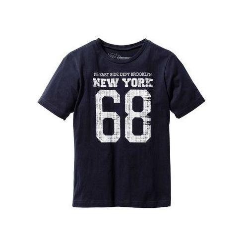 """Koszulki z krótkim rękawkiem dziecięce, T-shirt z nadrukiem w stylu """"college"""" bonprix ciemnoniebieski"""