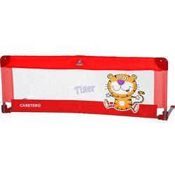 Bariera ochronna CARETERO do łóżka Safari Tiger czerwony + DARMOWY TRANSPORT!