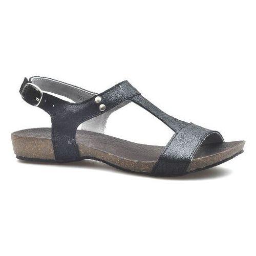 Sandały damskie, Sandały Filippo DS1271/20BK Czarne zamsz