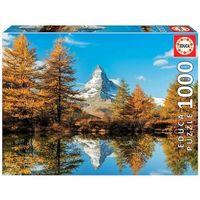 Puzzle, Puzzle 1000 elementów Góra Matterhorn jesienią