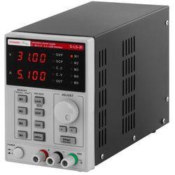 Stamos Soldering Zasilacz laboratoryjny - 0-30 V - 0-5 A DC - przewód USB - funkcja pamięci S-LS-31 - 3 LATA GWARANCJI