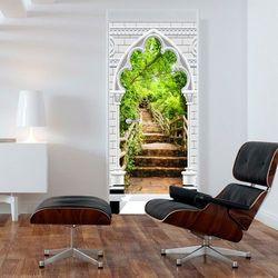 Fototapeta na drzwi - Tapeta na drzwi - Łuk gotycki i kamienne schody bogata chata