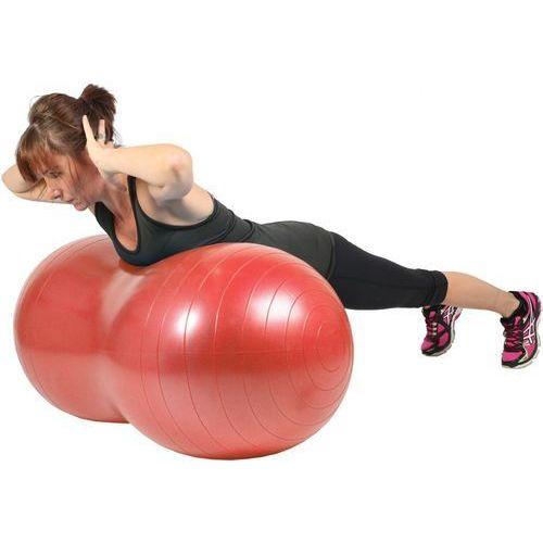 Piłki i skakanki, Piłka gimnastyczna (rehabilitacyjna), orzeszek Mambo Max AB Peanut Ball MoVes czerwona 50x100 cm (z pompką) - 05-011103