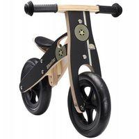 """Rowerki biegowe, Rowerek biegowy dwukołowy Bike Star 10"""" drewniana rama czarny"""