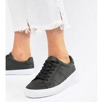 Damskie obuwie sportowe, ASOS DESIGN Wide Fit Devlin lace up trainers - Black