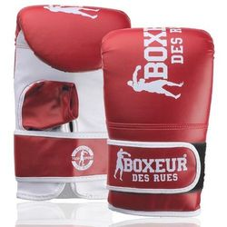 Rękawice bokserskie BOXEUR BXT-5140 (rozmiar L) Czerwono-biały