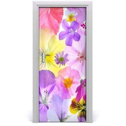 Okleina Naklejka fototapeta na drzwi Kolorowe kwiaty