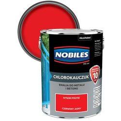 Emalia chlorokauczukowa Nobiles do metalu i betonu czerwony jasny 5 l