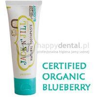 Pasty do zębów dla dzieci, JACK-N-JILL organiczna BORÓWKA + Xylitol 50g - naturalna pasta do zębów dla dzieci z dużą zawartością Xylitolu