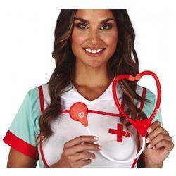 Stetoskop pielęgniarki, czerwony
