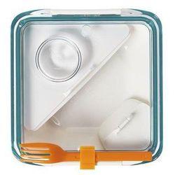 Pudełko na lunch Box Appetit niebiesko-białe