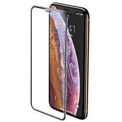 Baseus Full-screen szkło hartowane 3D na cały ekran z osłoną na głośnik Apple iPhone 11 Pro Max / iPhone XS Max czarny (SGAPIPH65-WA01)