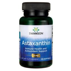 Astaxanthin Astaksantyna ekstrakt z alg 4mg 60 kapsułek SWANSON