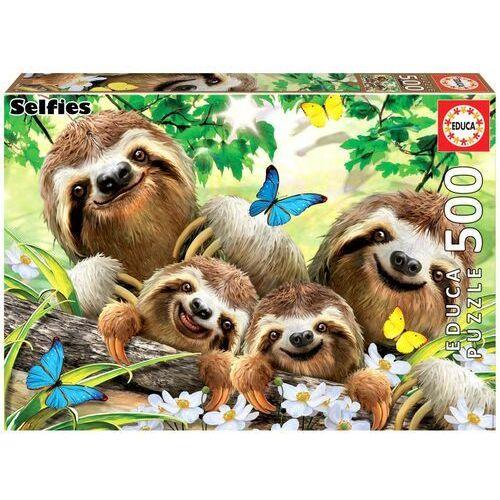 Puzzle, Puzzle 500 elementów Selfie rodzina Leniwców