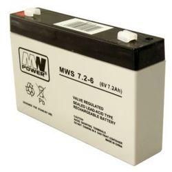Akumulator AGM MWP MWS 7,2-6 (6V 7,2Ah)