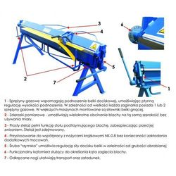 MAAD ZG-1400/1.5 ZAGINARKA GIĘTARKA KRAWĘDZIARKA DEKARSKA DO BLACHY MAAD ZG-1400/1.5 promocja (--54%)