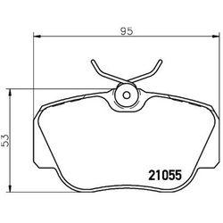 Zestaw klocków hamulcowych, hamulce tarczowe TEXTAR 2105503