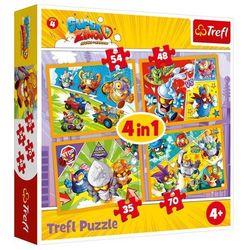 Puzzle 4w1 Super Zings bohaterowie serii 4 + 2-gi zestwa 10% TANIEJ!!
