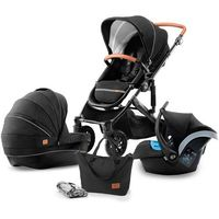 Wózki wielofunkcyjne, KinderKraft wózek dziecięcy PRIME 3w1 Black