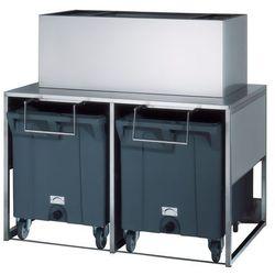 Zasobnik na lód ze stali nierdzewnej, 50+2x108 kg, 1560x1060x1484 mm   NTF, RB 280