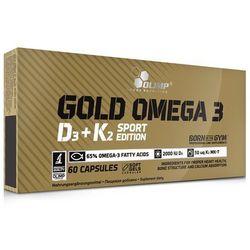 Kwasy tłuszczowe i witaminy OLIMP GOLD OMEGA-3 D3 + K2 Sport Edition 60 KAP Najlepszy produkt Najlepszy produkt tylko u nas!