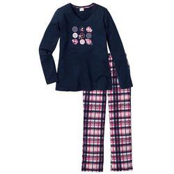 Piżama bonprix ciemnoniebieski z nadrukiem
