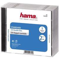 Pudełka i portfele na płyty, Opakowanie na cd/dvd HAMA Pudełka na płyty CD-BOX 5 szt. podwójne