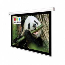 Ekran ścienny elektrycznie rozwijany Kauber White Label 200x200cm, 1:1, Matt White Plus