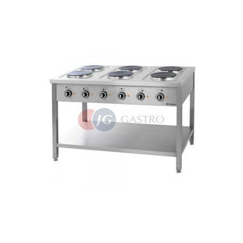 Piece i płyty grzejne gastronomiczne, Kuchnia elektryczna 6-płytowa z półką Stalgast 979600
