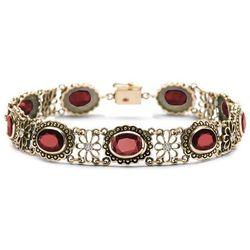 Kolekcja Wiktoriańska - bransoletka z rubinami i diamentami