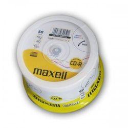 Maxell CD-R 700 MB 52x, 50 szt (624006.40) Szybka dostawa! Darmowy odbiór w 20 miastach!