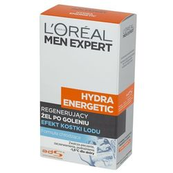 L'Oreal Paris Men Expert Hydra Energetic, 100 ml. Regenerujący żel po goleniu - L'oreal Paris