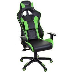 Fotel biurowy GIOSEDIO czarno-zielony,model GSA047