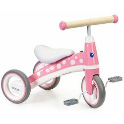 Rowerek trójkołowy z pedałami, mini rower dla dziecka, różowy