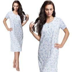 Bawełniana koszula nocna damska LUNA 176 3XL niebieska