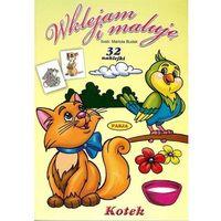 Książki dla dzieci, Wklejam i maluję - Kotek (opr. miękka)