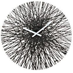 Zegar ścienny czarny Silk
