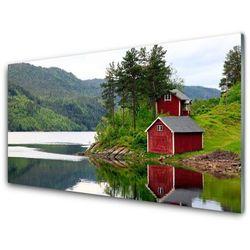 Panel Kuchenny Góry Dom Jezioro Krajobraz