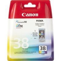 Tonery i bębny, Canon oryginalny ink blistr z ochroną, CL38, color, 207s, 9ml, 2146B008, 2146B003, Canon iP1800