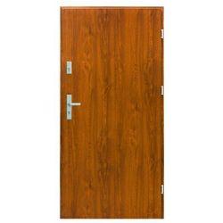 Drzwi zewnętrzne stalowe Splendoor Bazalt 90 prawe złoty dąb