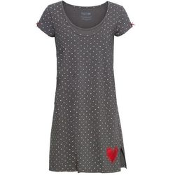 Koszula nocna ciążowa i do karmienia piersią bonprix szary w kropki