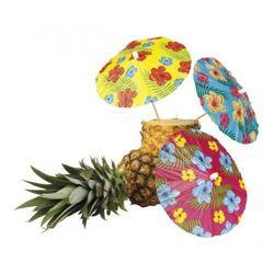 """Wykałaczki XXL """"Parasolka w hawajskie kwiaty"""" 6 szt."""