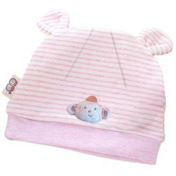 1 kIDS czapeczka niemowlęca z uszkami różowa