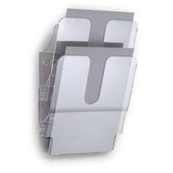 Pojemniki na dokumenty 2 pionowe A4 FLEXIPLUS przezroczyste 17090084 00
