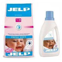 Płyny do prania, JELP Proszek Fresh Soft 4kg + Płyn do płukania Delicate 1l Promocja