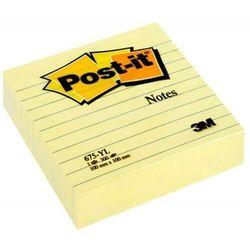 Karteczki POST-IT Super Sticky XL w linię (675-SS3-CY), 101x101mm, 3x70 kart., żółte