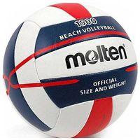 Pozostałe sporty drużynowe, Piłka siatkowa Molten plażowa biało-granatowo-czerwona V5B1500-WN